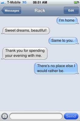 Text conversation